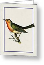 Vintage Robin Vertical Greeting Card