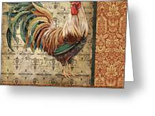 Vintage Rooster-a Greeting Card