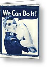 Vintage Rosie The Riveter Greeting Card by Dan Sproul