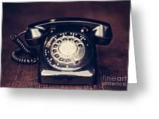 Vintage Rotary Phone Greeting Card