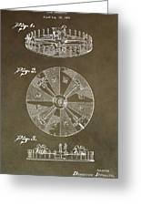 Vintage Roulette Wheel Patent Greeting Card