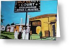 Vintage Route 66 Diner Sleeper Greeting Card