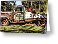 Vintage Rusty Old Truck 1940 Greeting Card