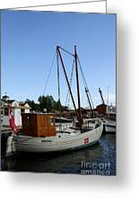 Vintage Sailing Boat - Ct Greeting Card