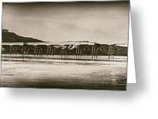 Vintage Saltburn Pier Greeting Card