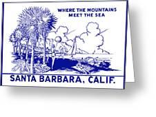 Vintage Santa Barbara Greeting Card