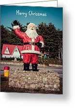 Vintage Santa Claus Christmas Card Greeting Card by Edward Fielding