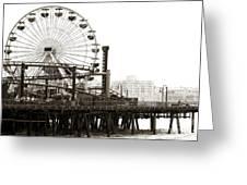 Vintage Santa Monica Pier Greeting Card