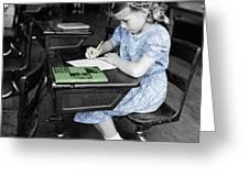 Vintage Schoolgirl Greeting Card