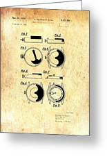 Vintage Self-winding Watch Movement Patent Greeting Card