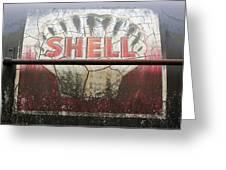 Vintage Shell Oil Rail Tanker Car Greeting Card