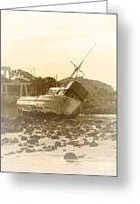 Vintage Shipwreck  Greeting Card