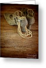 Vintage Shoes And Pearls Greeting Card