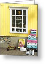 Vintage Shop In Akureyri Iceland Greeting Card
