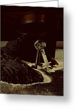 Vintage Skeleton Keys _tassle Nbr 3 Greeting Card