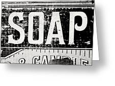 Vintage Soap Crate In Black And White Greeting Card