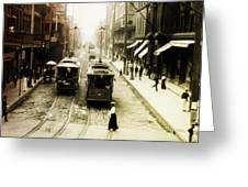 Vintage St Charles Street - New Orleans Greeting Card