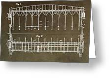 Vintage Starting Gate Patent Greeting Card