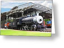 Vintage Steam Locomotive 5d29281 V2 Greeting Card