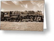Vintage Steam Locomotive Greeting Card