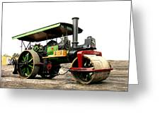 Vintage Steam Roller Greeting Card
