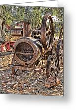 Vintage Steam Tractor Greeting Card by Douglas Barnard