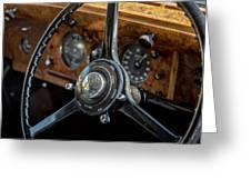 Vintage Steering  Greeting Card