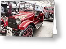 Vintage Studebaker Fire Engine Greeting Card by Douglas Barnard