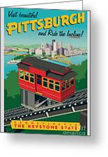 Pittsburgh Poster - Incline Greeting Card