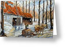 Vintage Sugar Shack By Prankearts Greeting Card