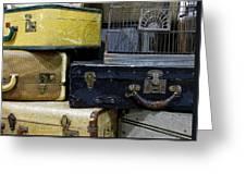 Vintage Suitcase Greeting Card