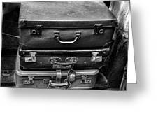 Vintage Suitcases Greeting Card