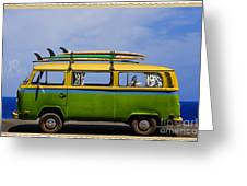 Vintage Surf Van Greeting Card