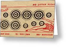 Vintage Target Card Greeting Card