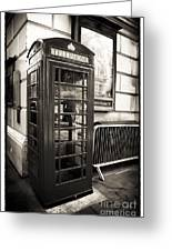 Vintage Telephone Booth Greeting Card