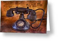 Vintage Telephone  Greeting Card