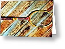 Vintage Tennis Greeting Card by Benjamin Yeager