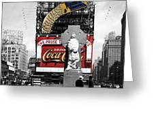 Vintage Times Square 1 Greeting Card