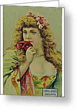 Vintage Tobacco Or Cigarette Card Greeting Card