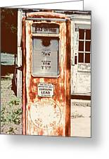 Vintage Tokheim Gas Pump Greeting Card