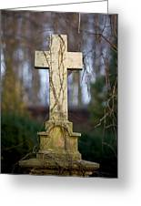 Vintage Tombstone Cross Greeting Card