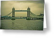 Vintage Tower Bridge Greeting Card