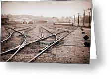 Vintage Tracks Greeting Card