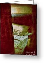 Vintage Train Bed Greeting Card