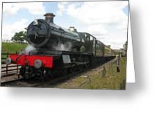 Vintage Train Black Steam Engine Greeting Card