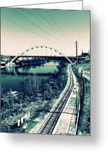 Vintage Train Tracks In Nashville Greeting Card