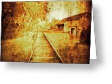Vintage  Railway Portland Pa Usa Greeting Card
