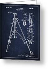 Vintage Tripod Patent Drawing From 1941 Greeting Card