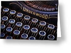 Vintage Typewriter 2 Greeting Card