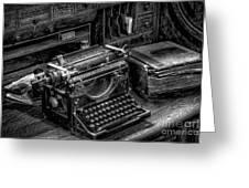 Vintage Typewriter Greeting Card by Adrian Evans